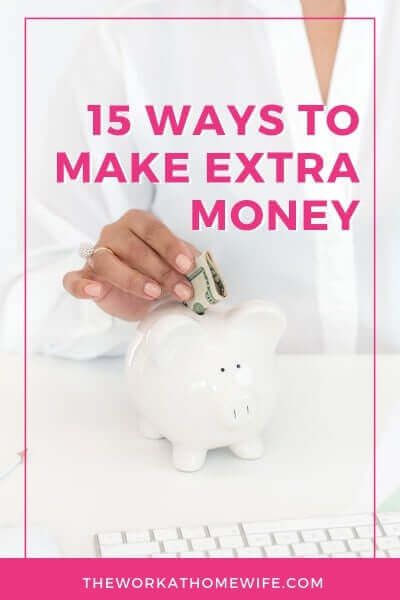 Would you like to earn some extra folding money from home? It's easy to pick up a side income today. Here are 15 great supplemental income ideas. #extramoney #workfromhome