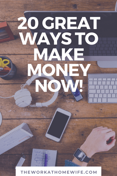 Need fast cash? Here are 20 things to do when you need money now. #makemoney #workathome