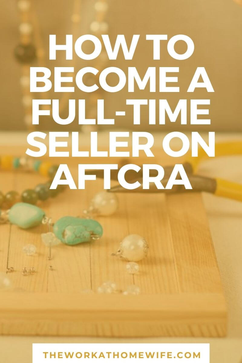 Learn how one handmade crafter is earning a full-time income on Aftcra