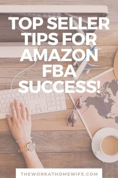One of the hottest work-at-home business opportunities at this moment is becoming an Amazon FBA Seller. Don't miss these top seller tips. #smallbusiness #onlinebusiness #onlinemoney