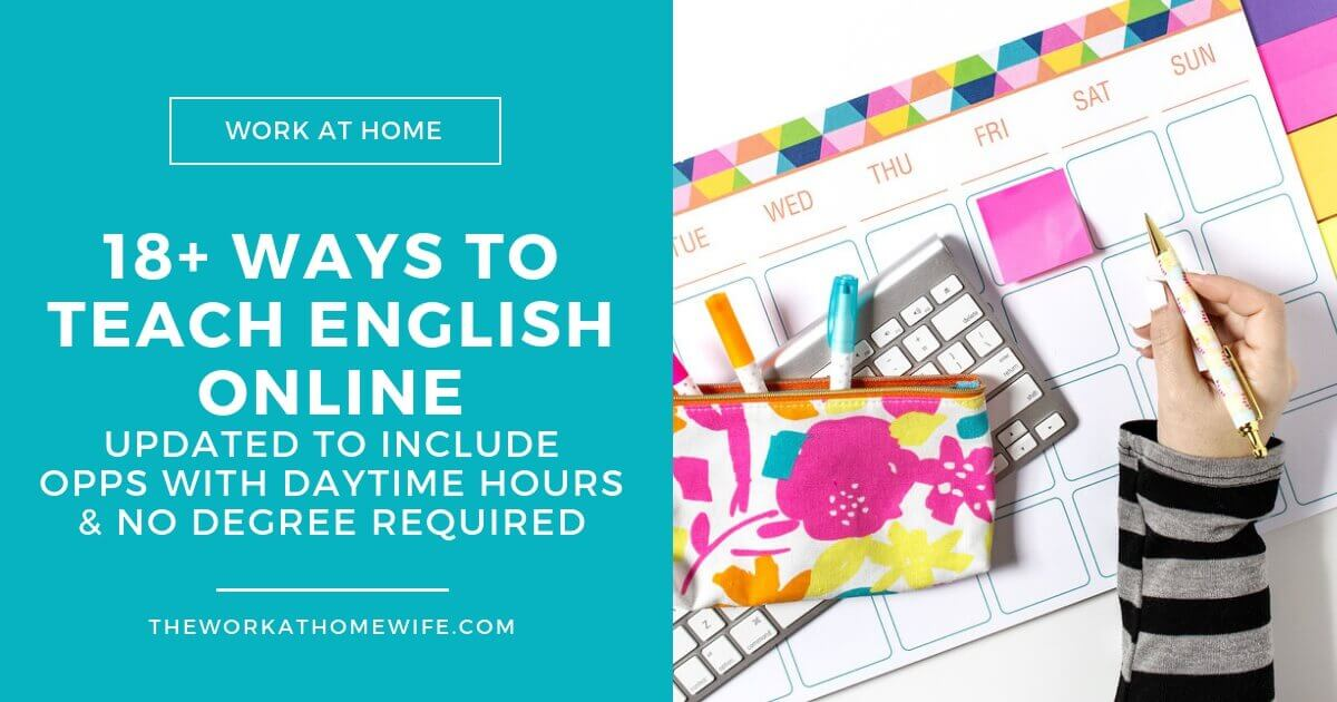 Teach english online while working from home