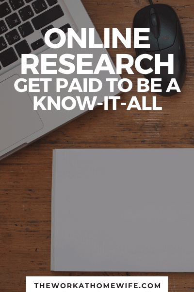 Do you love to do online research? Check out this awesome work-at-home jobs.